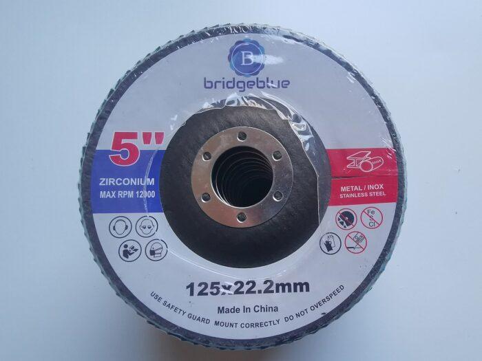 bridgeblue 125mm flap disc 80 grit