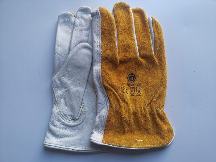 Rigger Gloves Yellow White